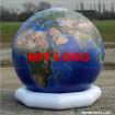 Deko Welt topografisch mit Logo 300 Vinyl