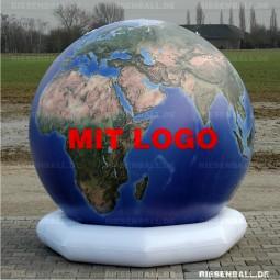 Deko Welt topografisch mit Logo 150 Vinyl