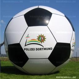 Deko Fussball mit Logo 150 Vinyl
