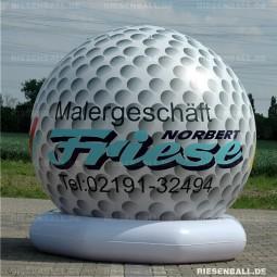 Deko Golfball mit Logo 150 Vinyl