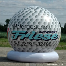 Deko Golfball mit Logo 300 Vinyl