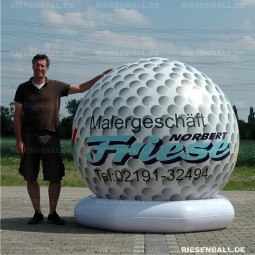 Deko Golfball mit Logo 200 Vinyl