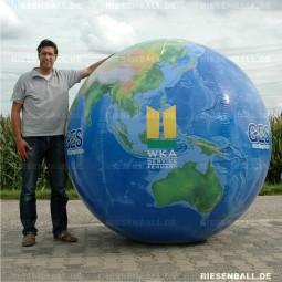 Heli Welt topografisch mit Logo 200 Vinyl