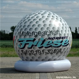Deko Golfball mit Logo 250 Vinyl