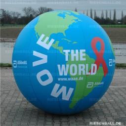 Event Welt glatt mit Logo 150 Textil