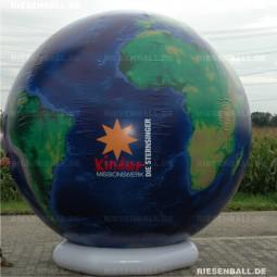 Event Welt topografisch mit Logo 250 Textil