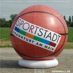 Deko Basketball mit Logo 250 Vinyl