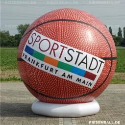 Deko Basketball mit Logo 200 Vinyl