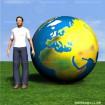 Spiel Welt topografisch Fix BLAU 200 APM